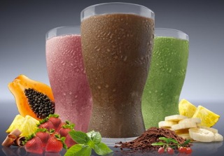 3 flavors of Shakeology meal replacement shake